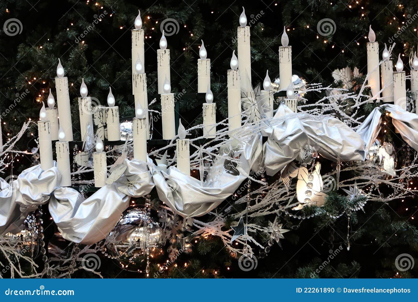 De zilveren decoratie van kerstmis stock foto afbeelding 22261890 - Foto van decoratie ...