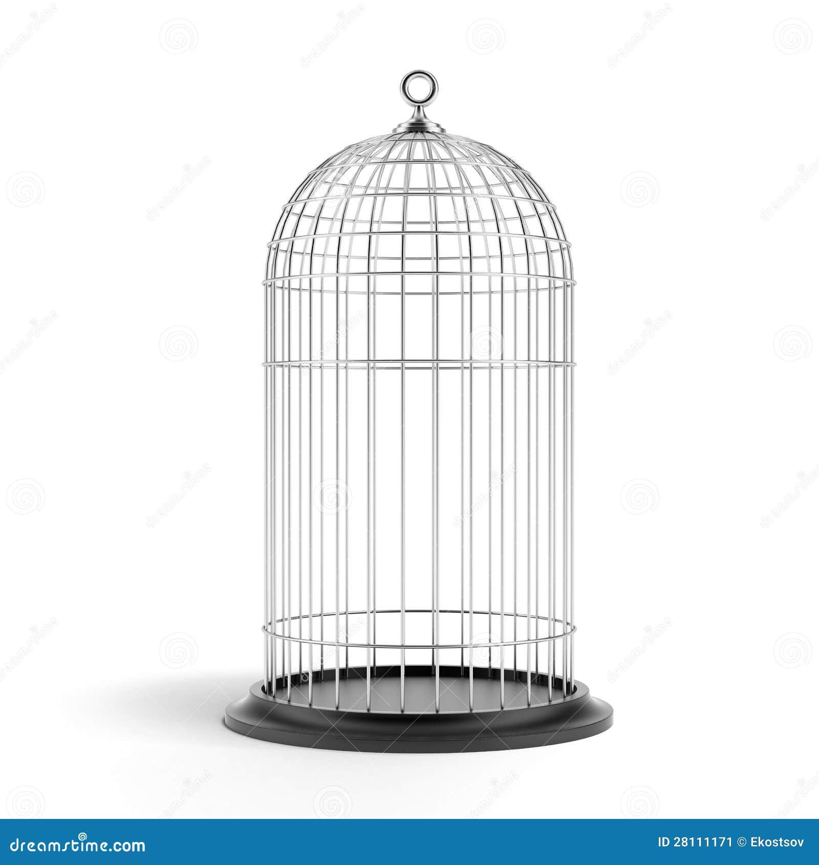 de zilveren kooi de vogel stock illustratie
