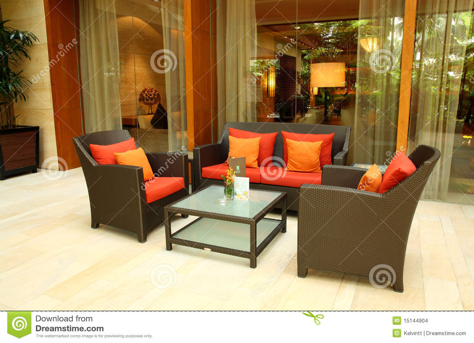 De zitkamer en de hal van het hotel stock afbeeldingen afbeelding 15144904 for Decor ingang