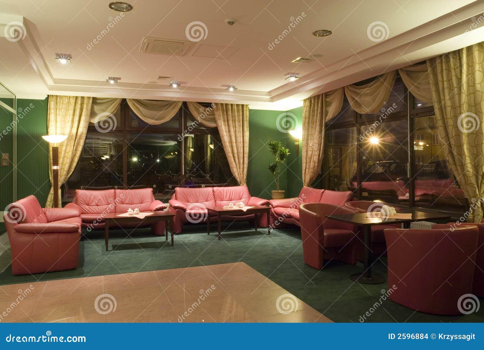 De zitkamer van het hotel