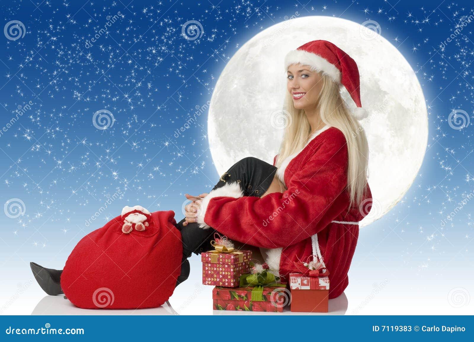 De zitting van de Kerstman