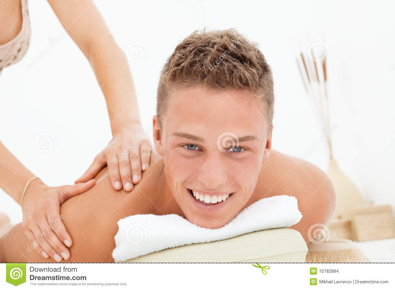 De zitting van de massage