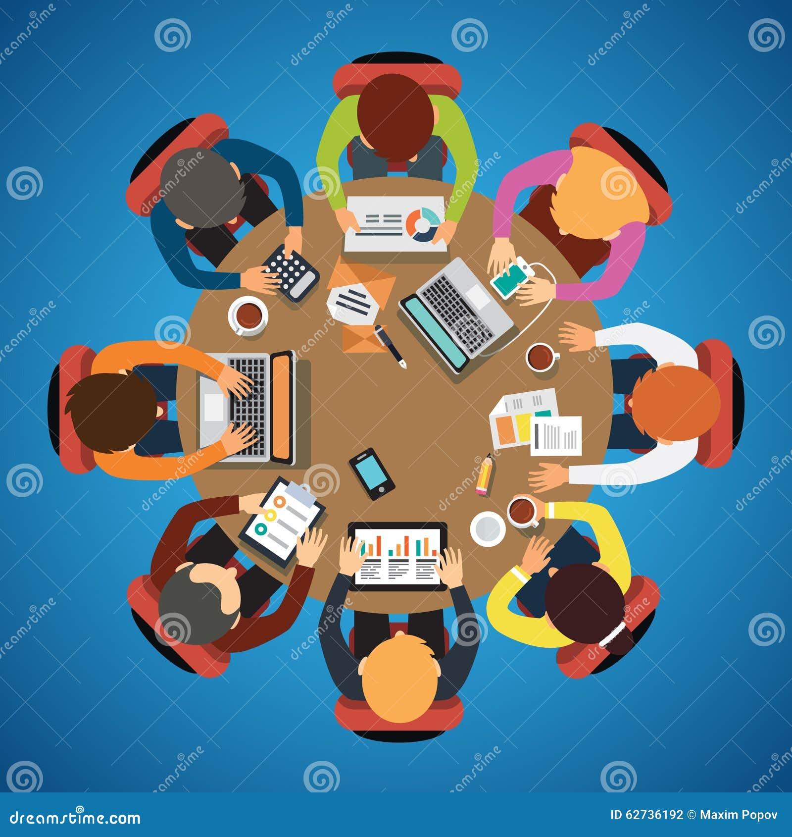Citaten Samenwerken Xl : De zitting van het acht mensenteam en samenwerken