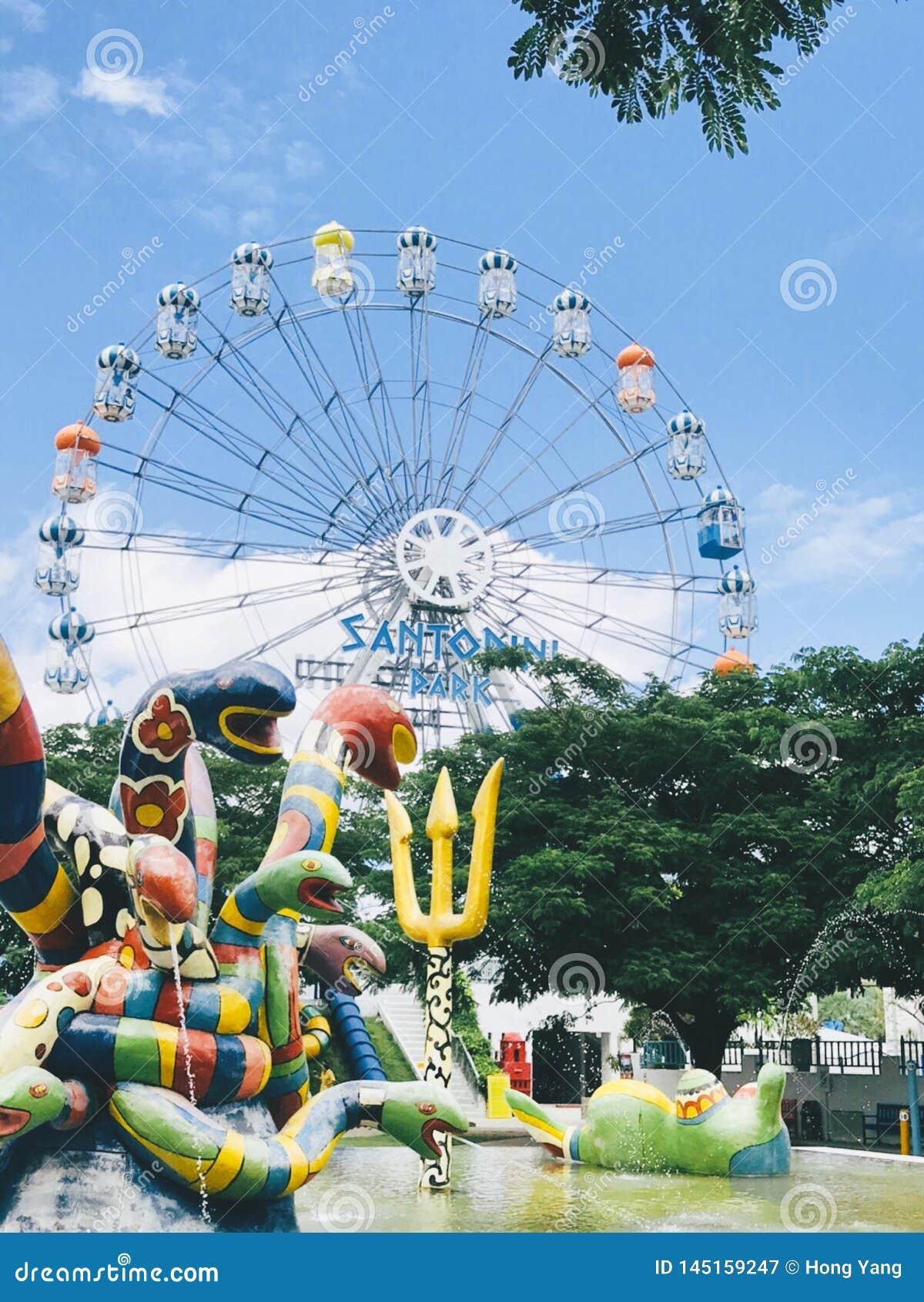 De zomer Ferris Wheel
