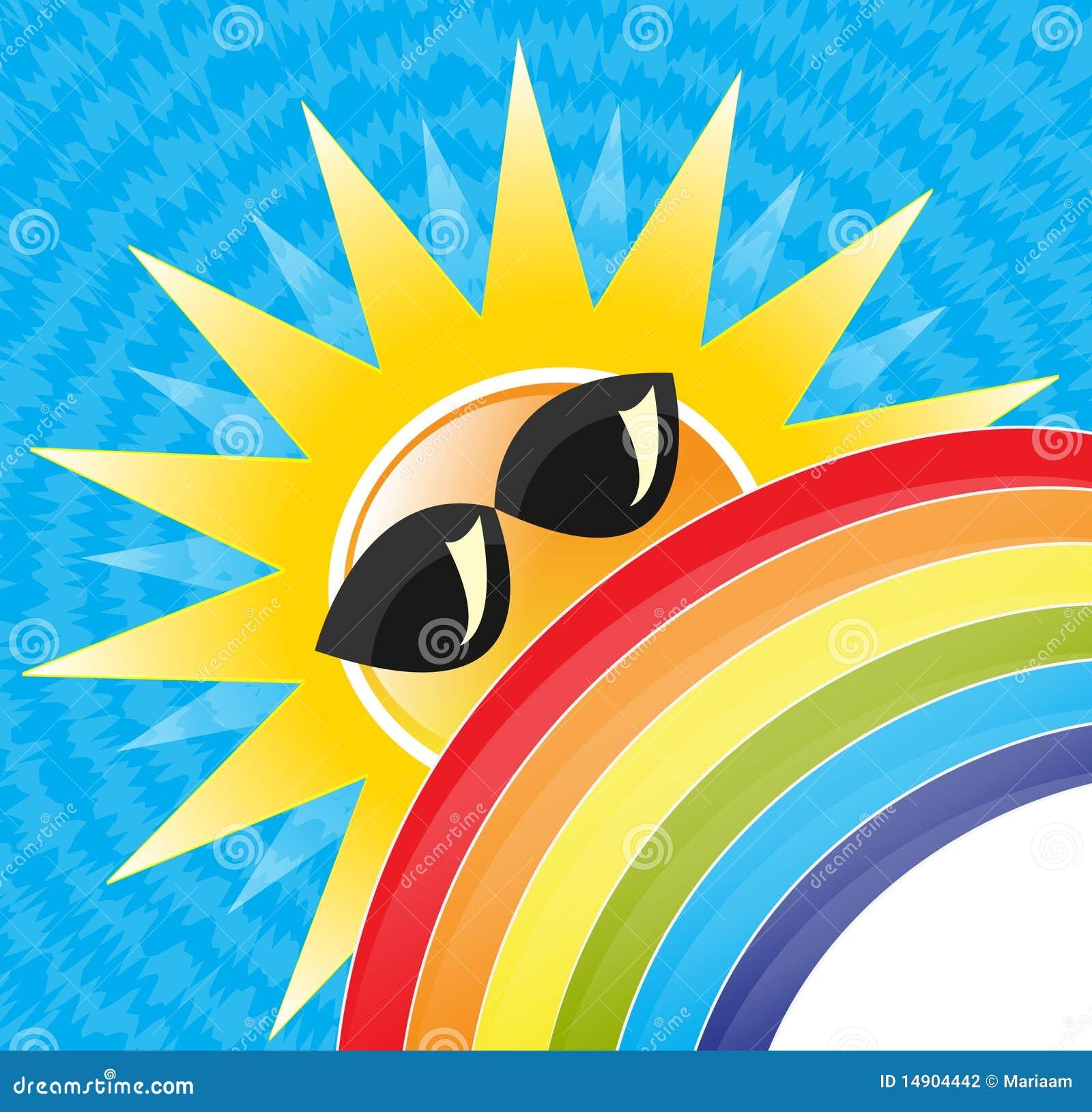 De zon & de regenboog van de zomer