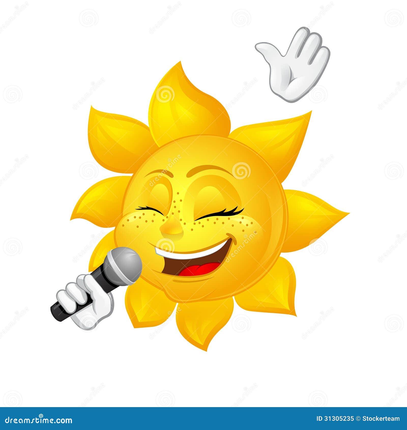 De zon met sproeten die isoleert op witte achtergrond zingen
