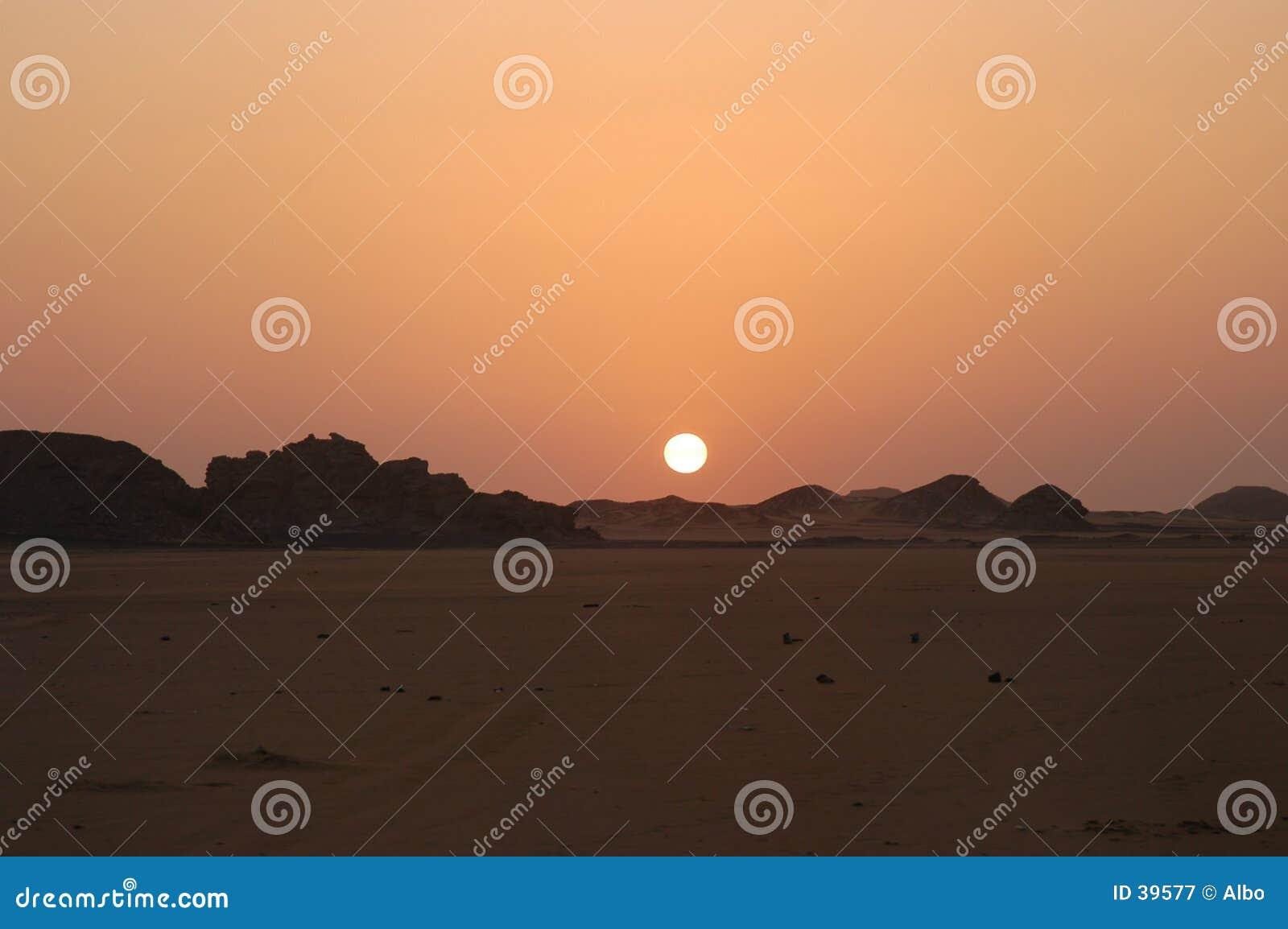 De zon van de woestijn