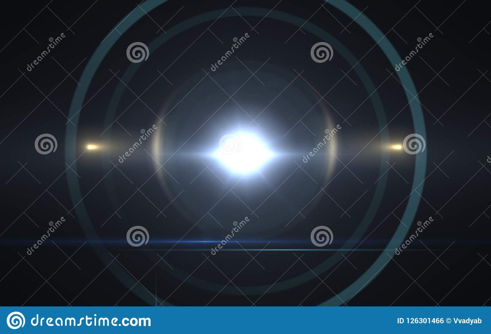 De zonnegevolgen van de lensgloed De abstracte Gloed van de cirkel Digitale lens, lensgloed, lichte lekken,