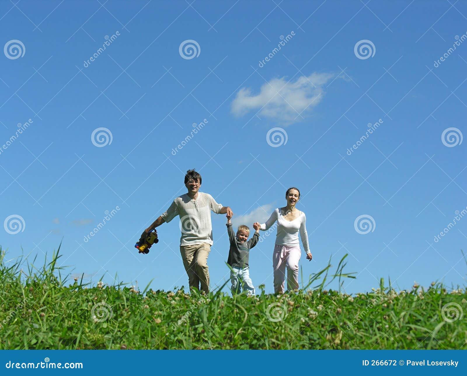 De zonnige dag van de familie