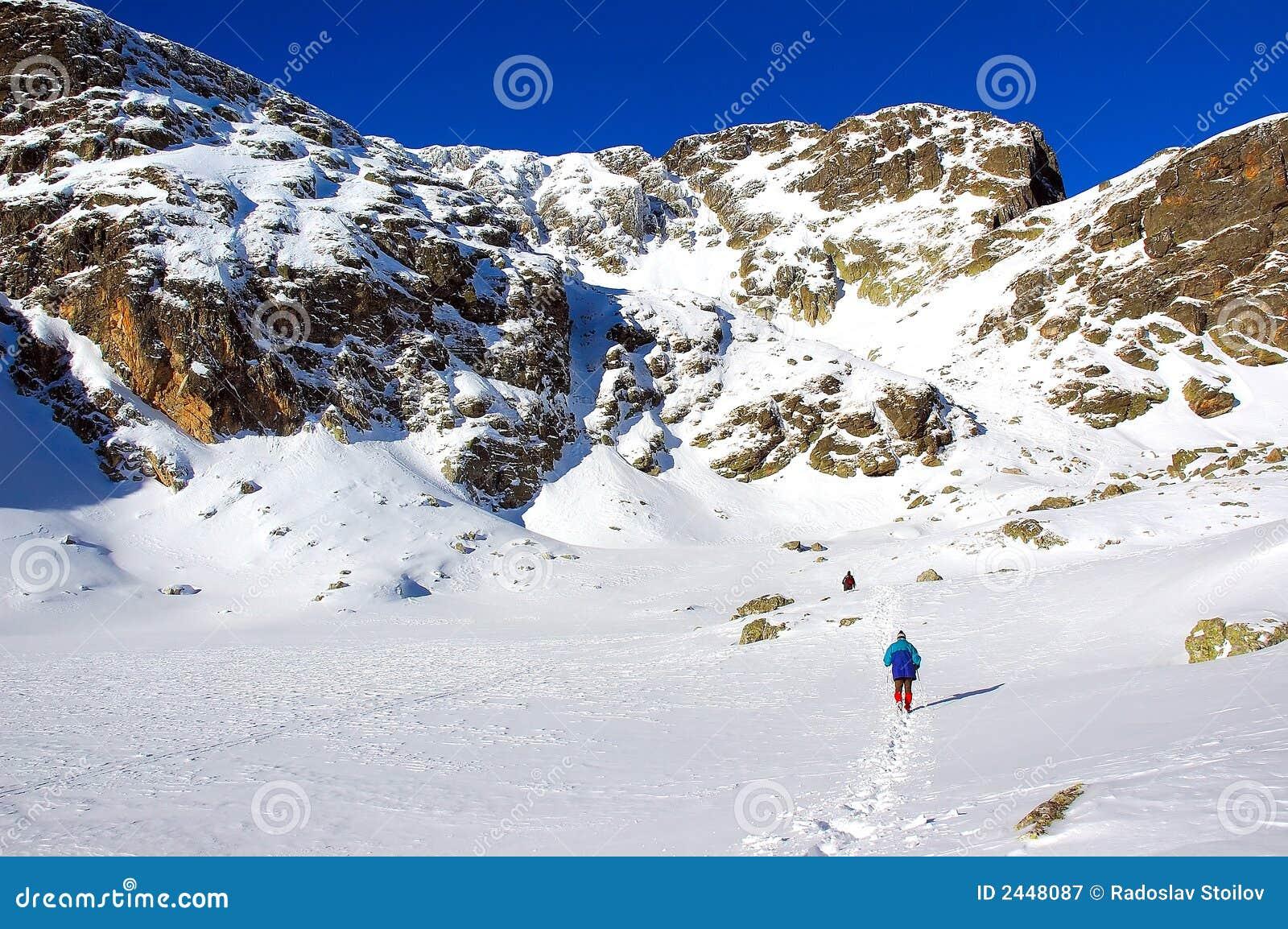 De zonnige winter in berg