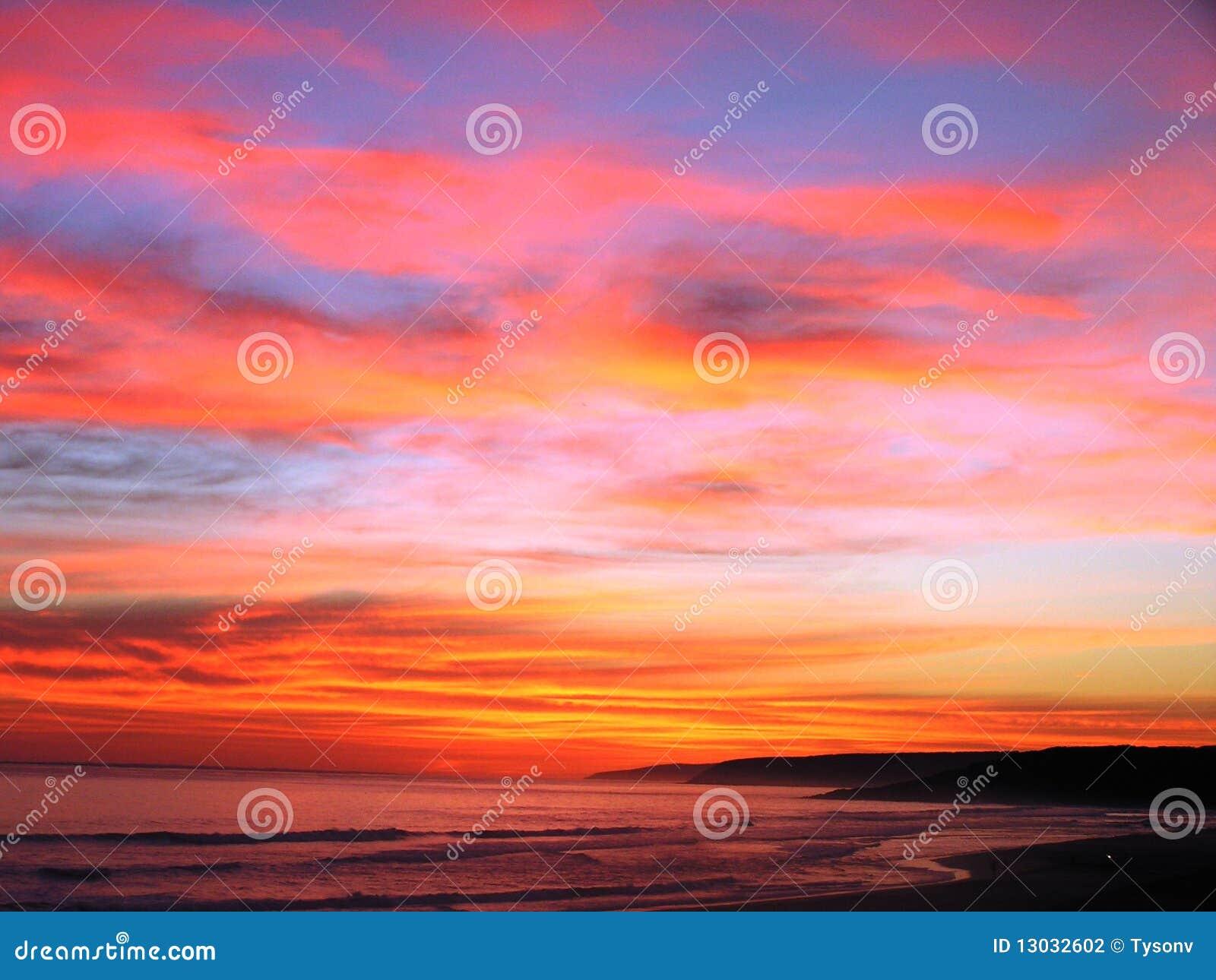 De Zonsondergang van Australië