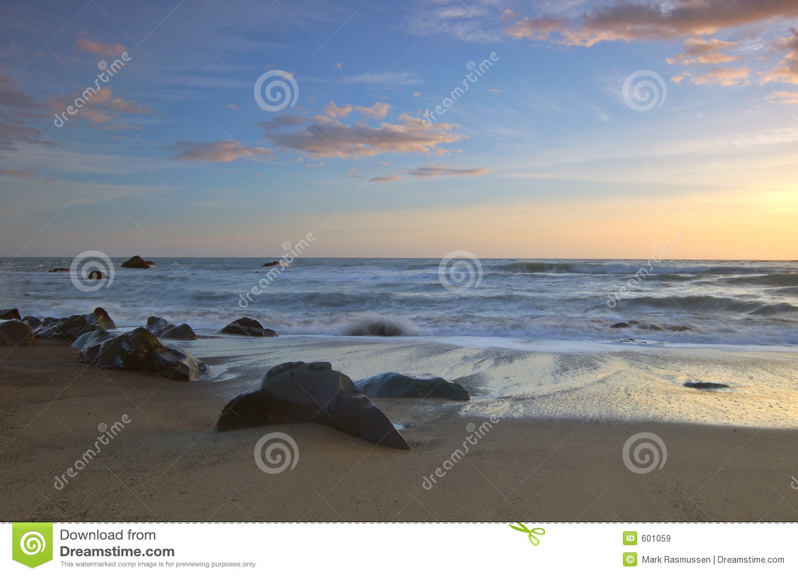 De Zonsondergang van Californië