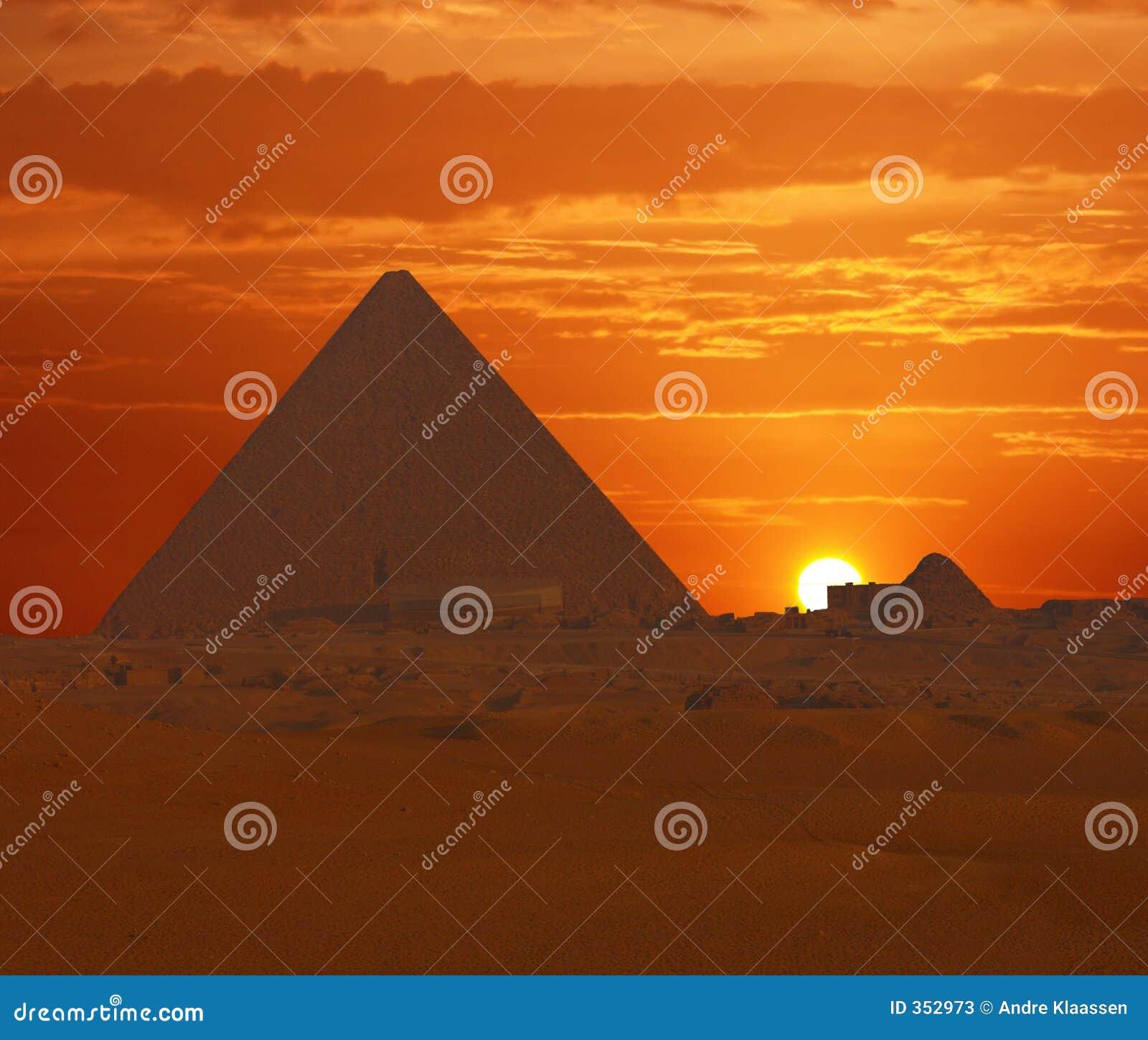 De zonsondergang van Cheops
