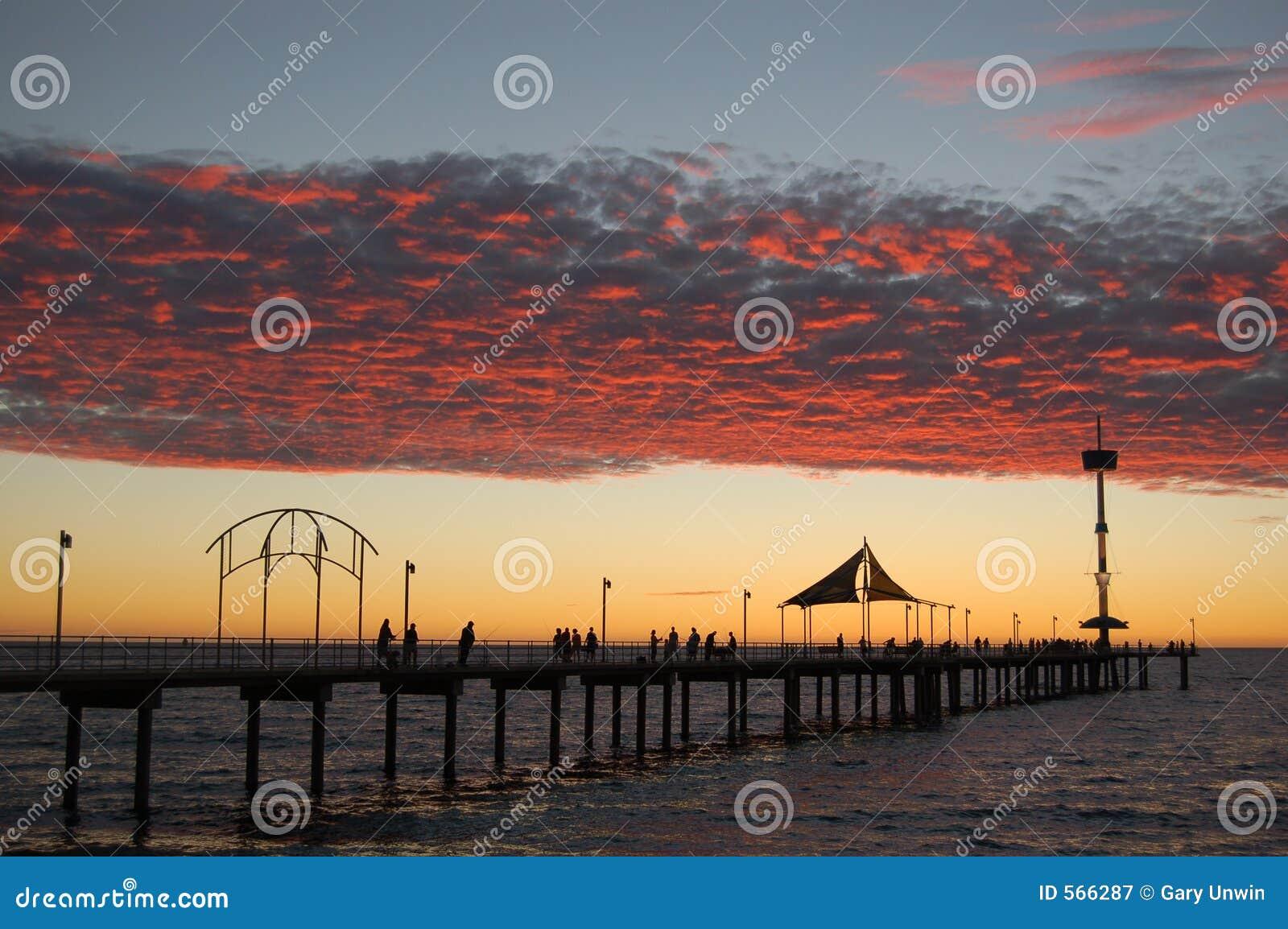De Zonsondergang van de Pier van Brighton
