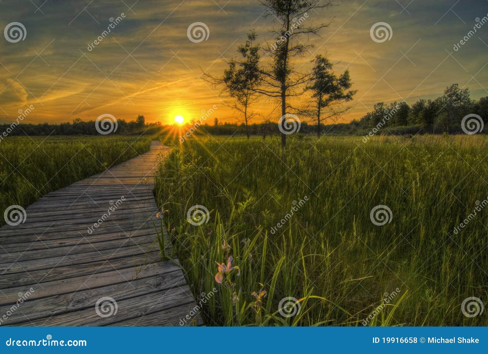 De Zonsondergang van de Prairie van Irwin