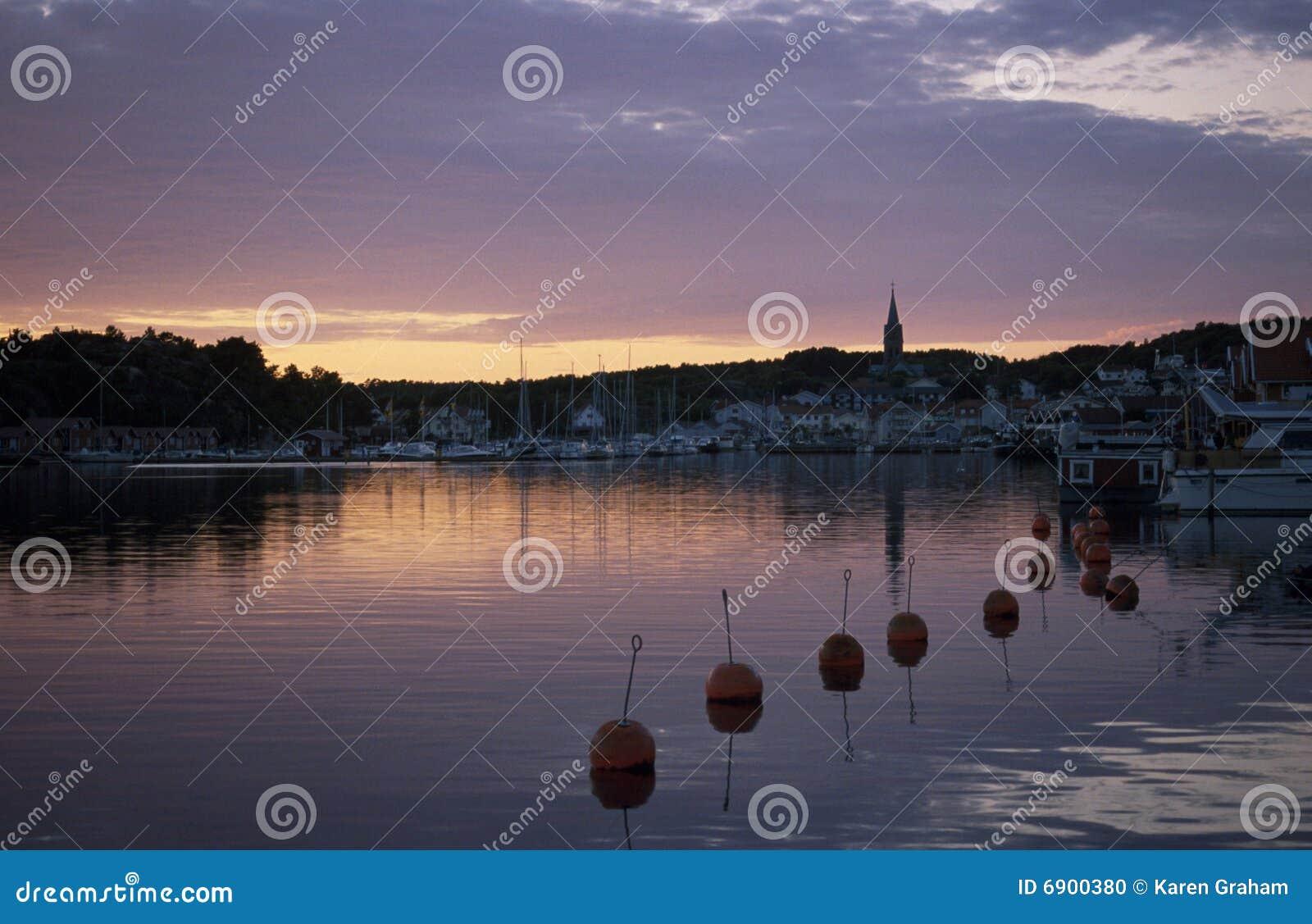 De zonsondergang van Grebbestad