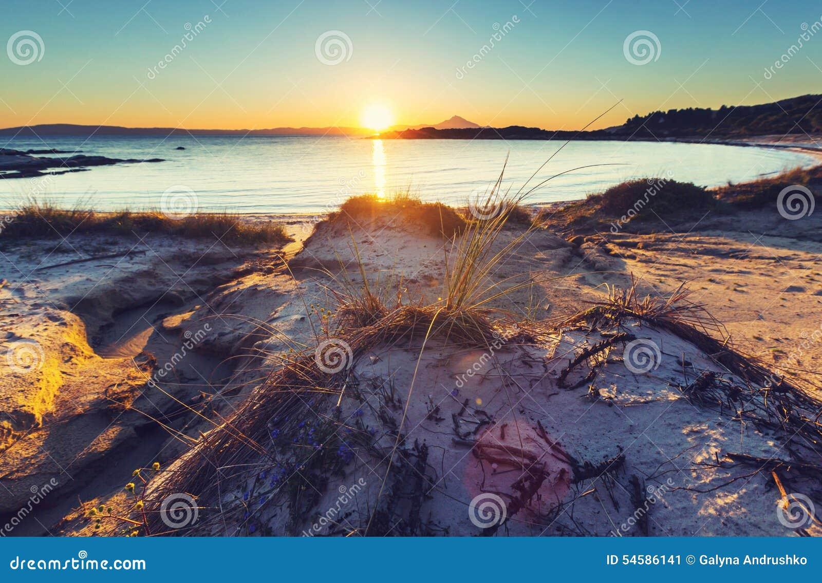 De zonsondergang van Griekenland