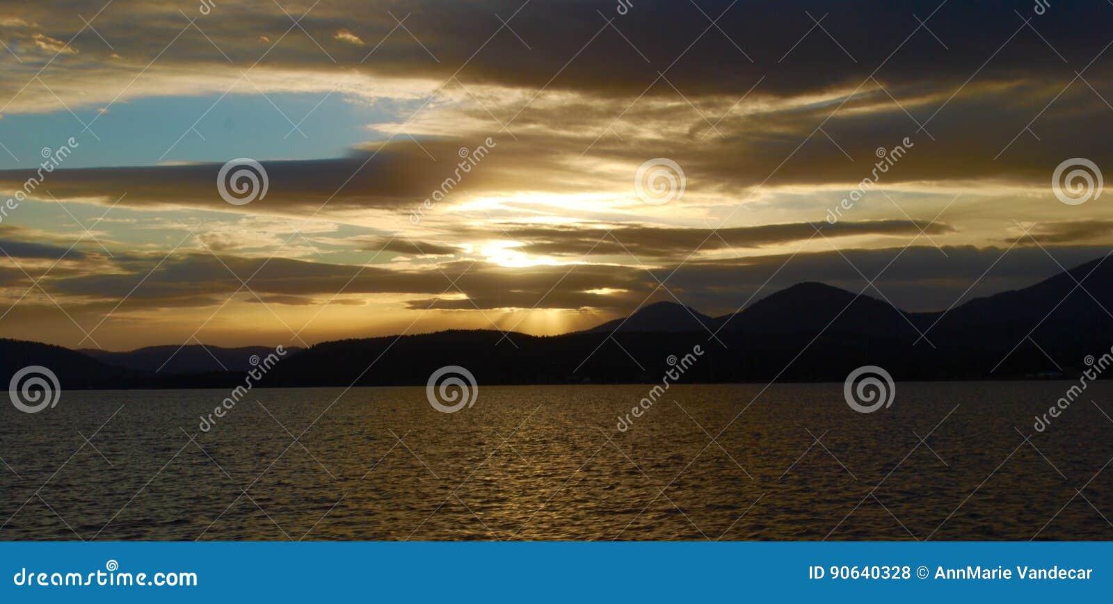 De Zonsondergang van Idaho