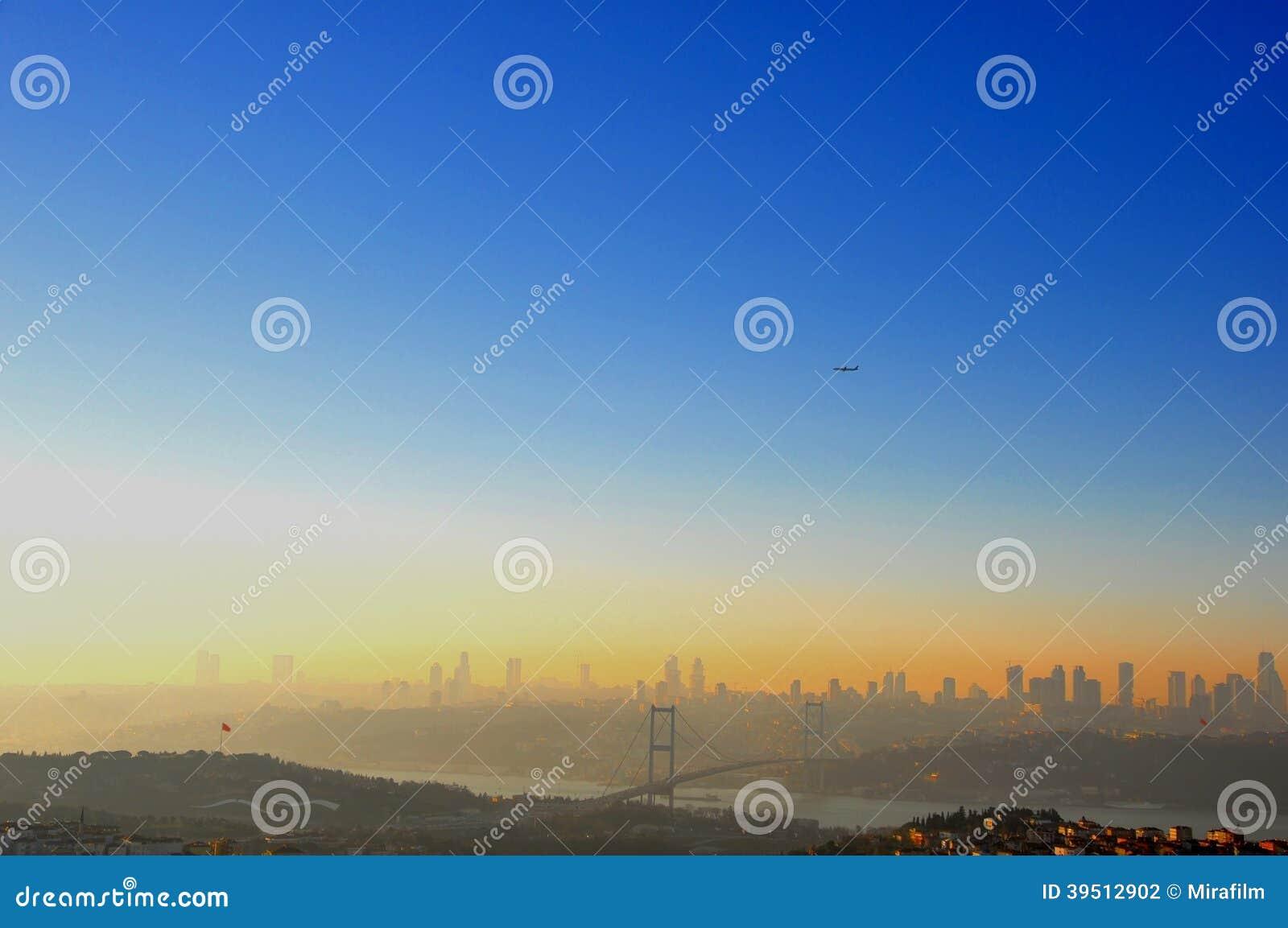 De zonsondergang van Istanboel