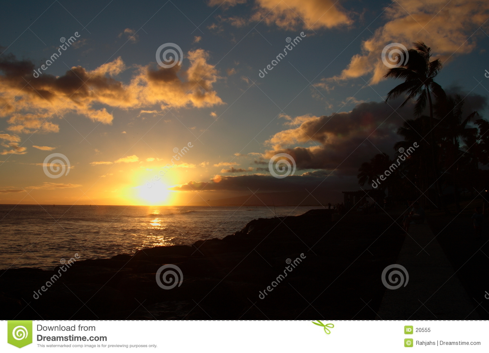 De Zonsondergang van Kakaako