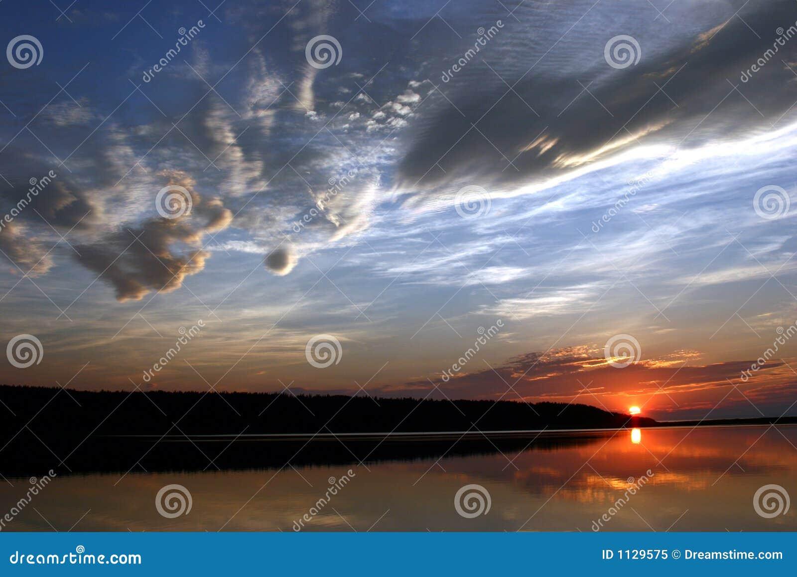 De Zonsondergang van Nova Scotia