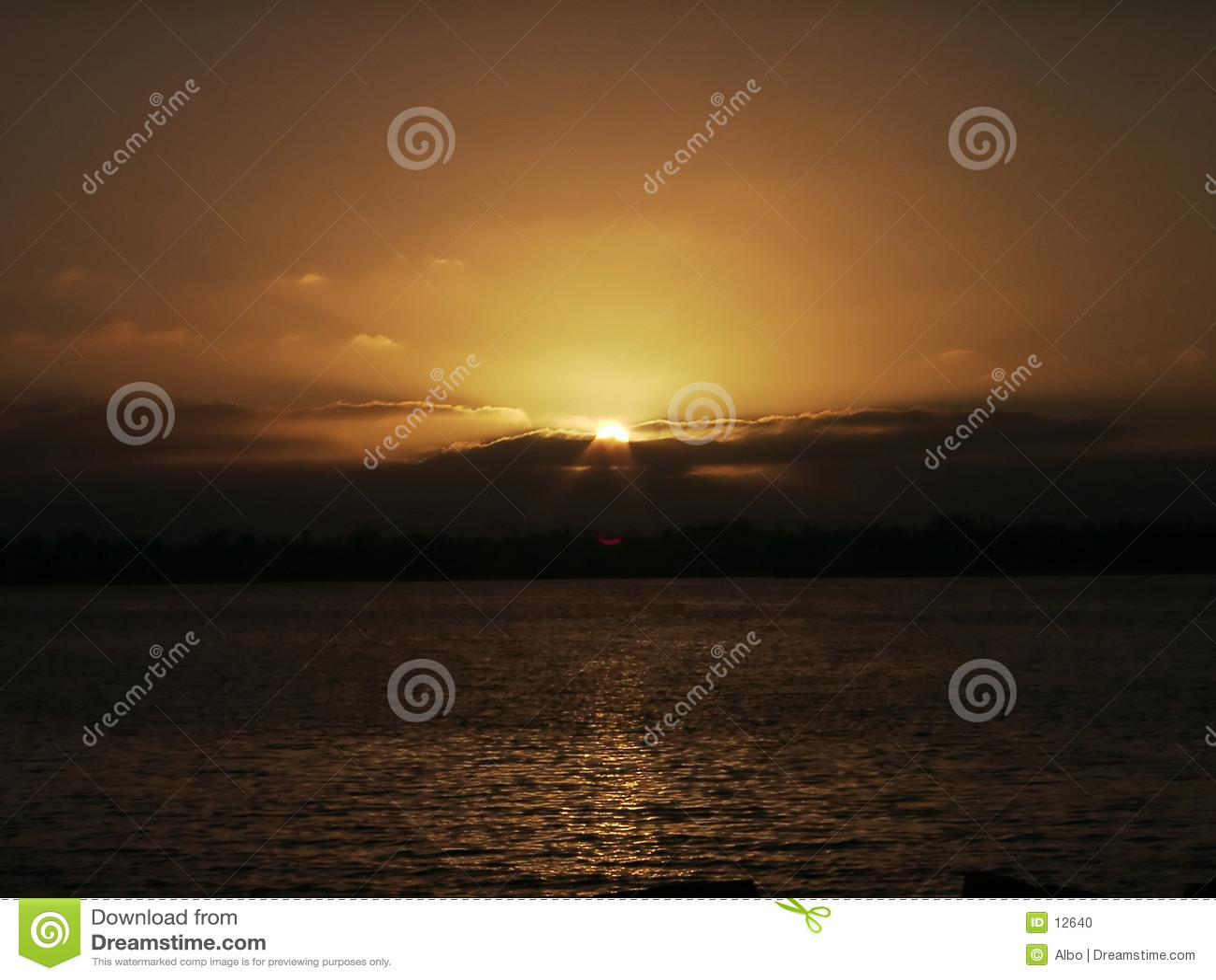De zonsondergang van San Diego