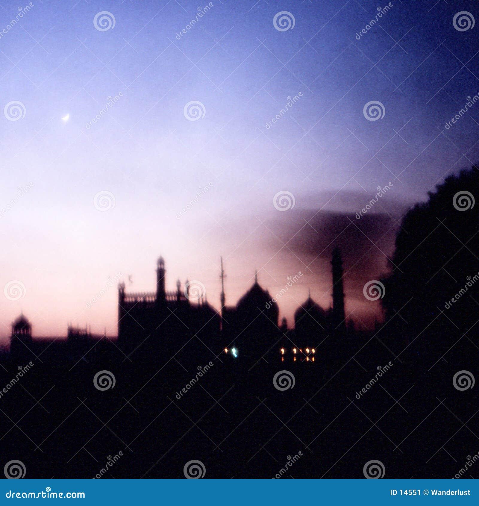 De zonsondergang van Taj