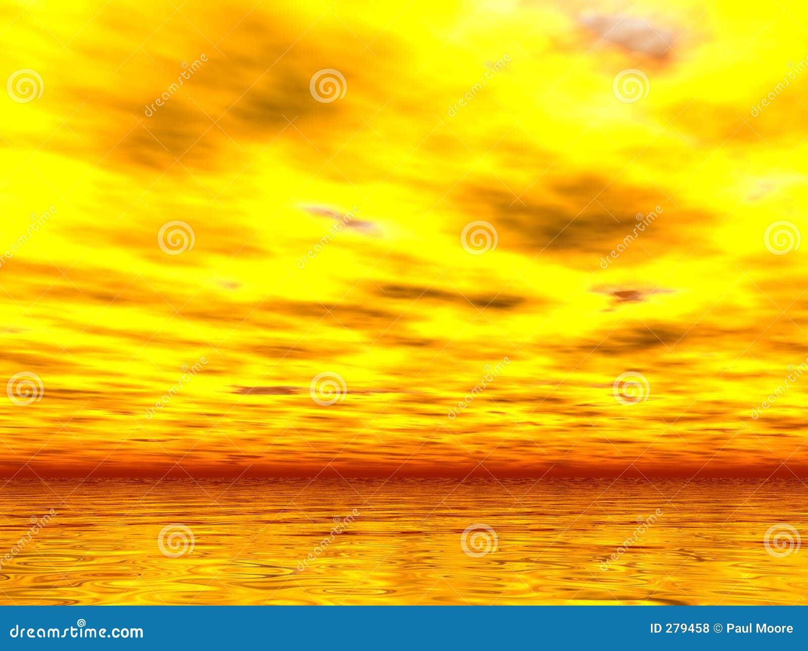 De Zonsondergang van Yellowest