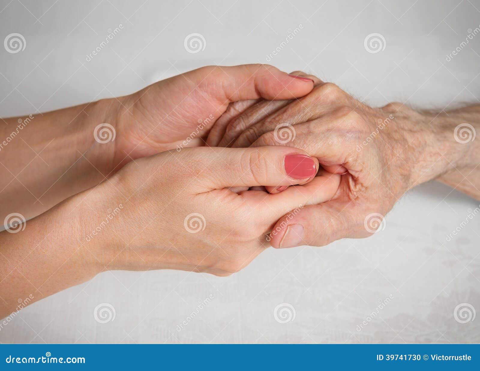De zorg is thuis van bejaarden