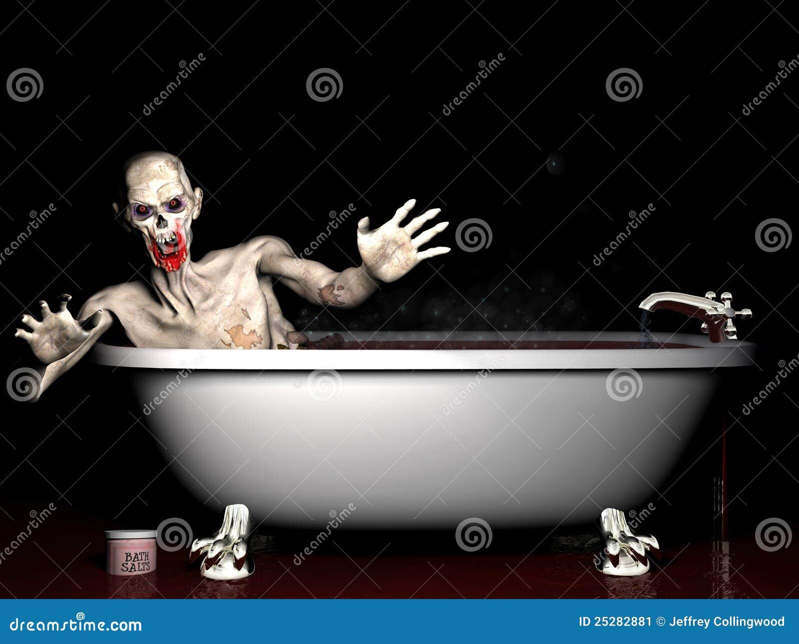 De zoute zombie van het bad stock illustratie afbeelding 25282881 - Verkoop van bad ...