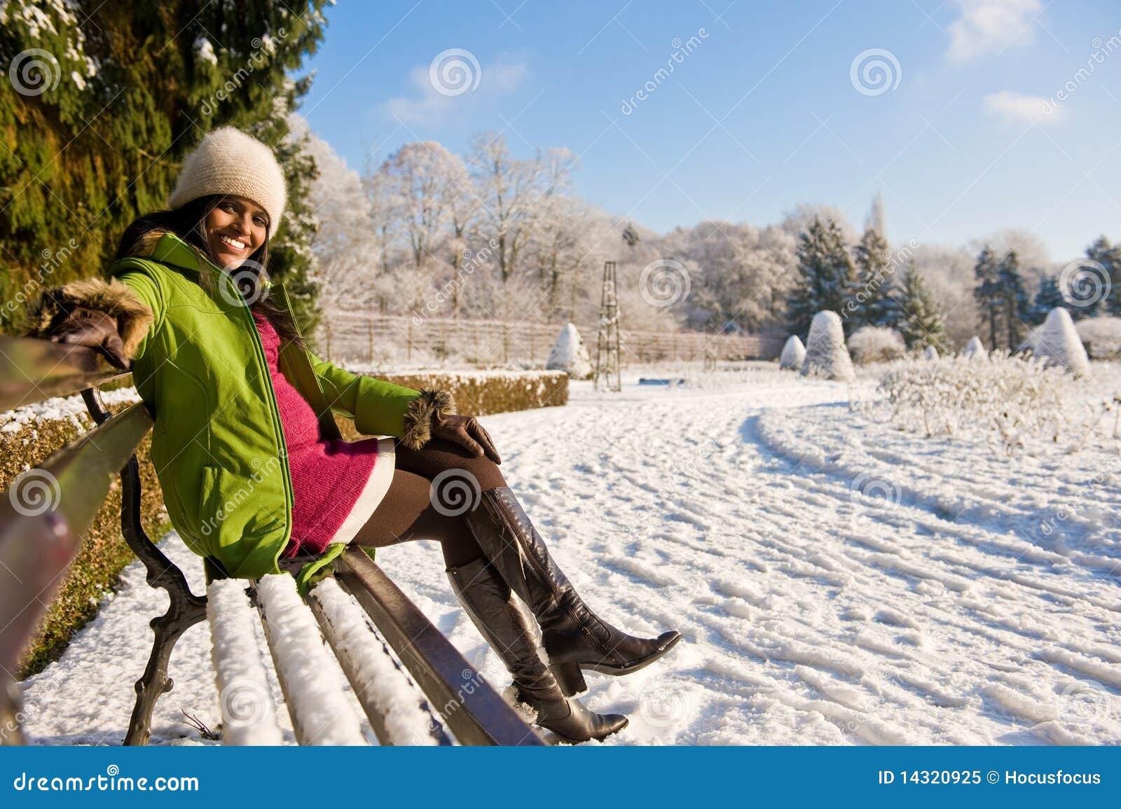De zwangere winter van de tuin stock afbeelding afbeelding