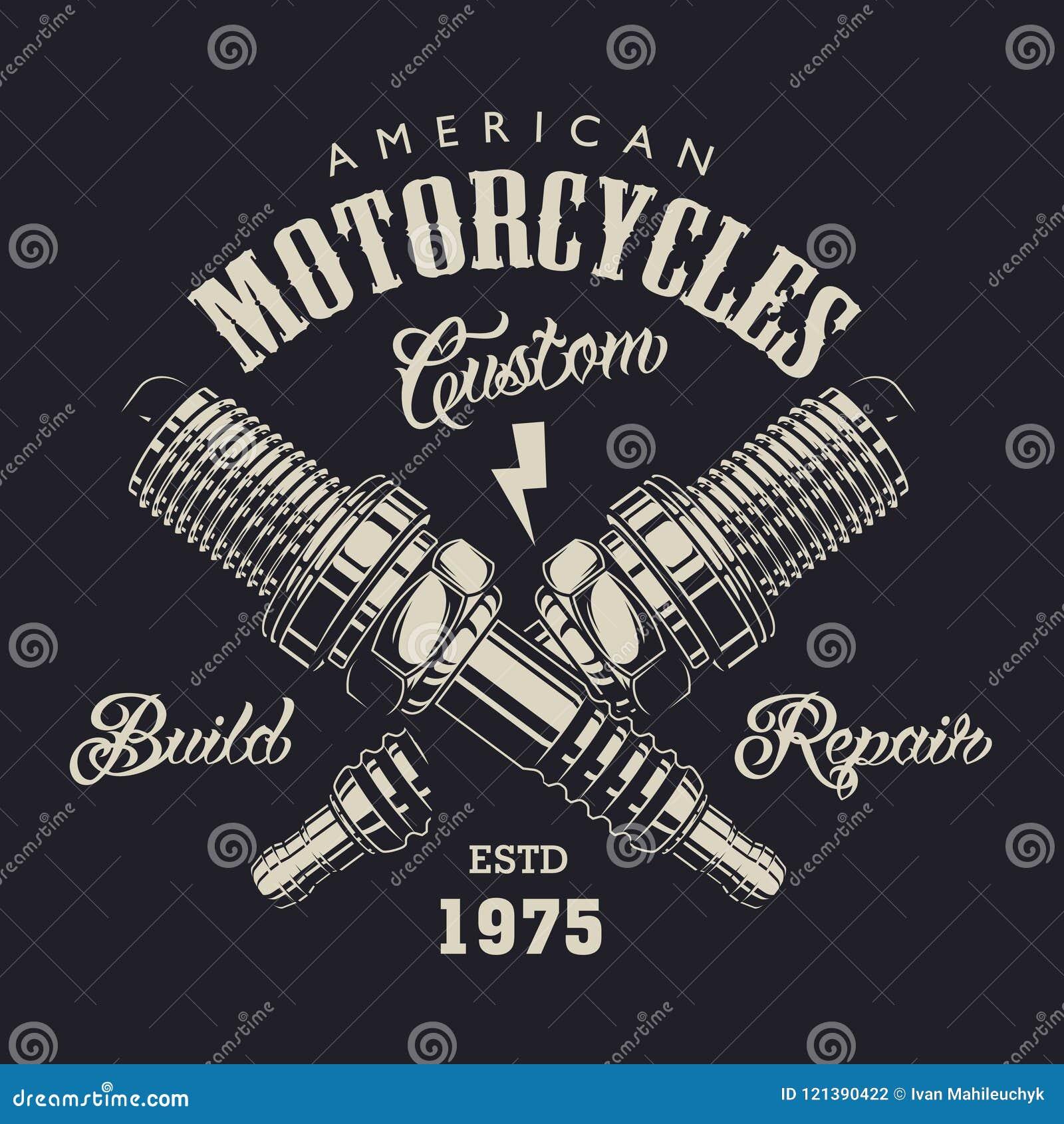 De zwart-wit motorfietsdienst logotype