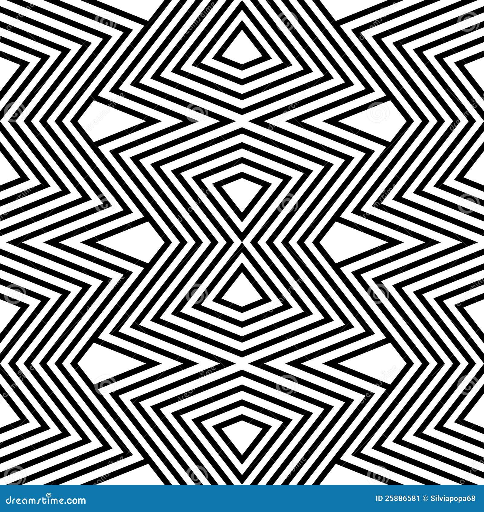 Zigzag Line Drawing : De zwart witte zigzag van het patroon stock illustratie