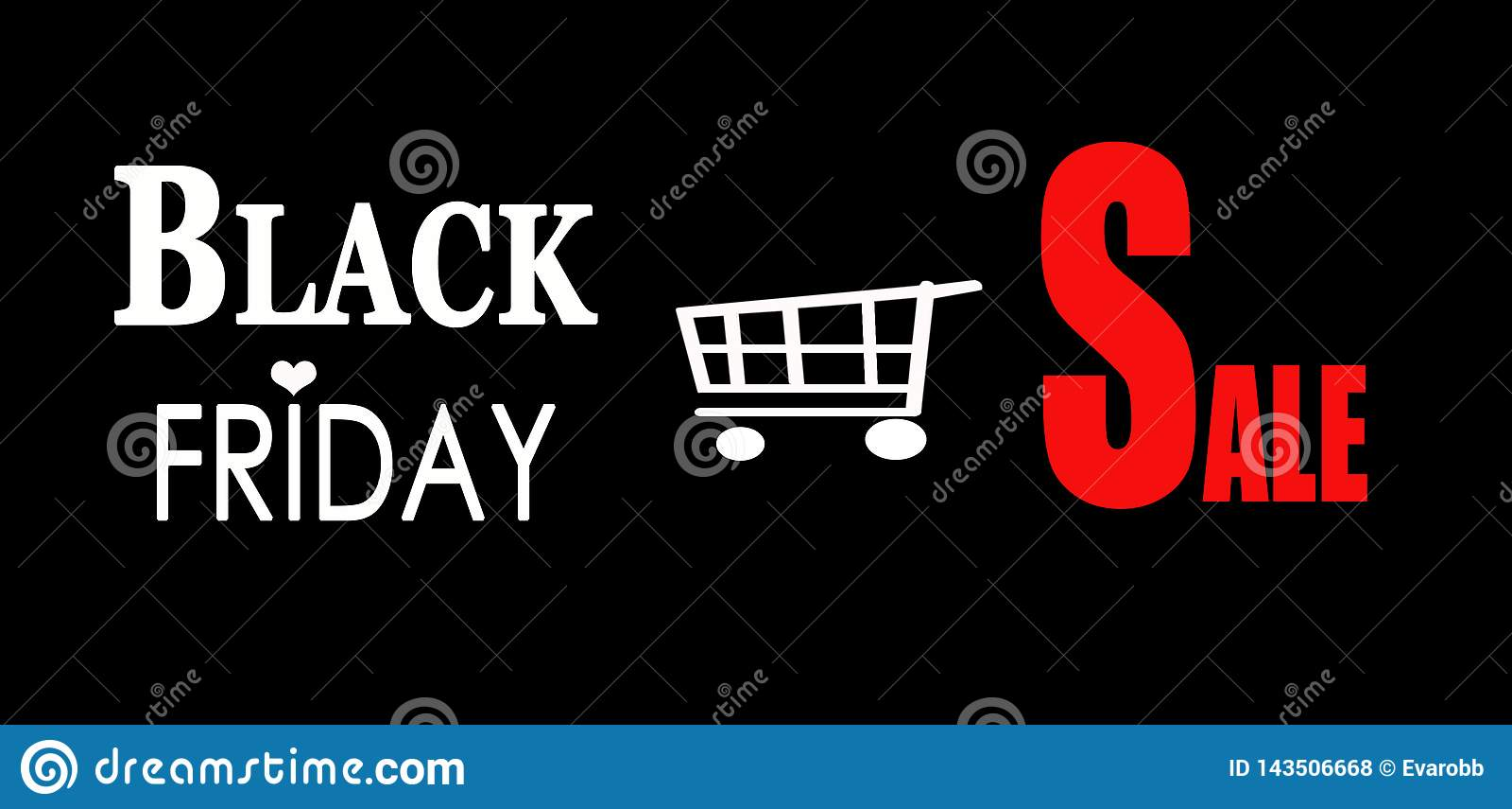 De zwarte advertentie van de vrijdagverkoop
