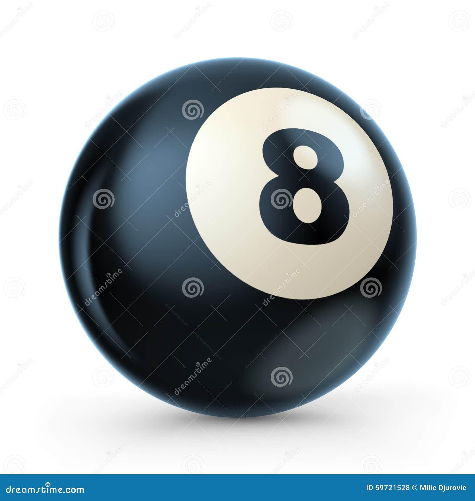 De zwarte bal van het poolspel met nummer 8 3d stock illustratie afbeelding 59721528 - Zwarte bal ophanging ...