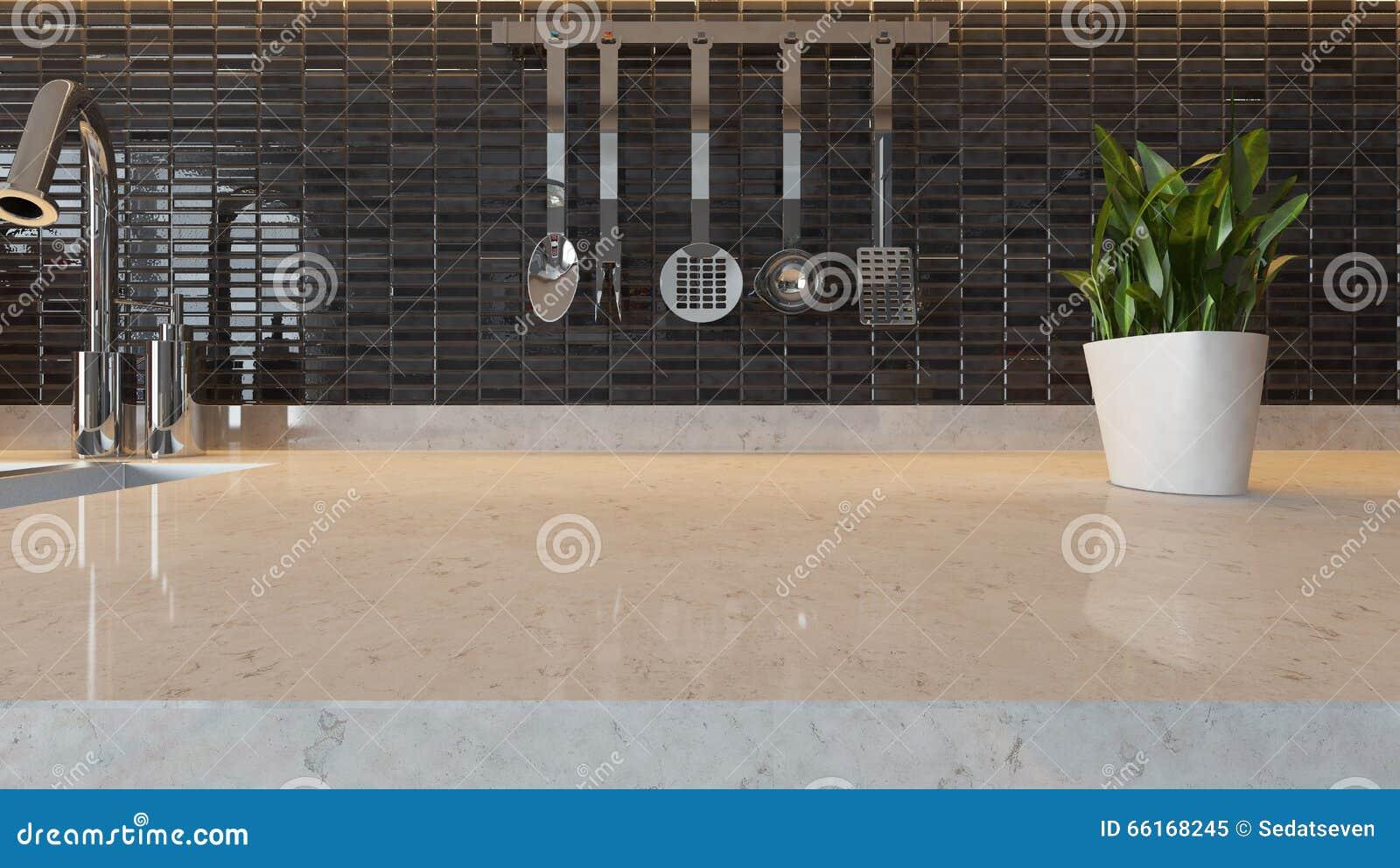 De Zwarte Ceramische Moderne Achtergrond Van Het Keukenontwerp Met ...