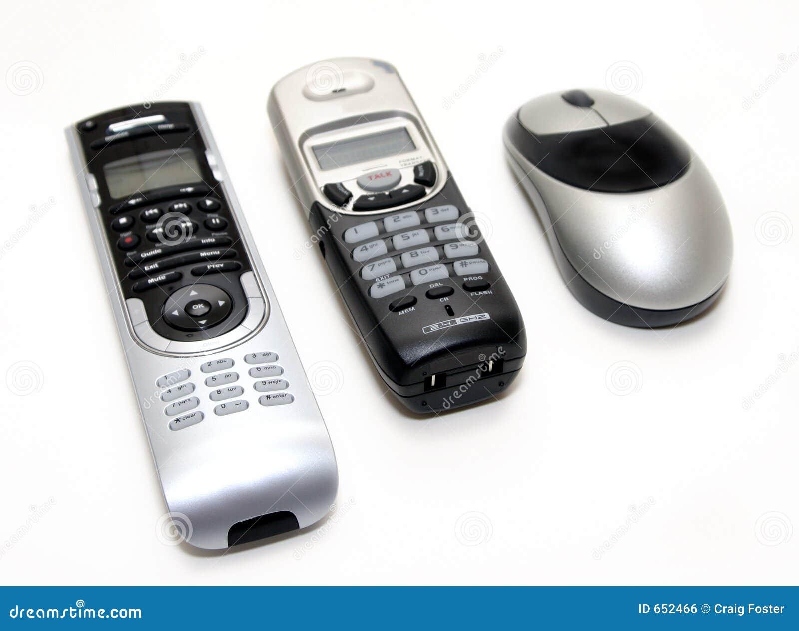 De zwarte en Zilveren Elektronika van het Huis