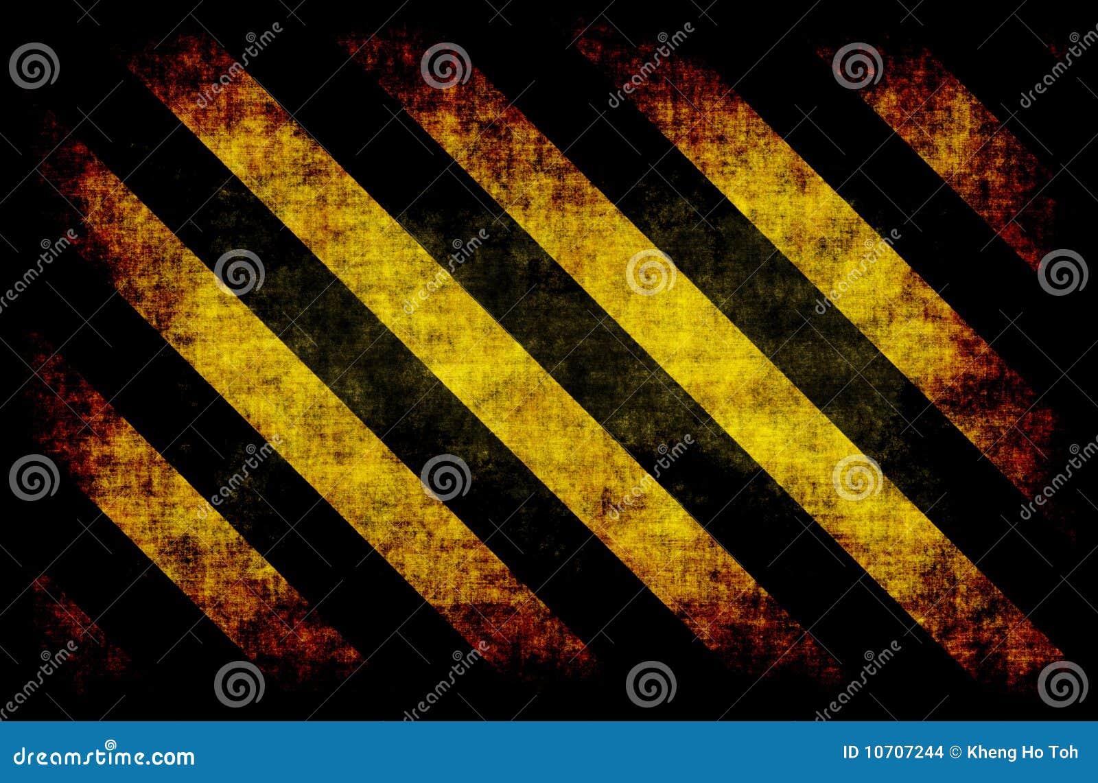 de zwarte gele strepen het gevaar stock afbeeldingen