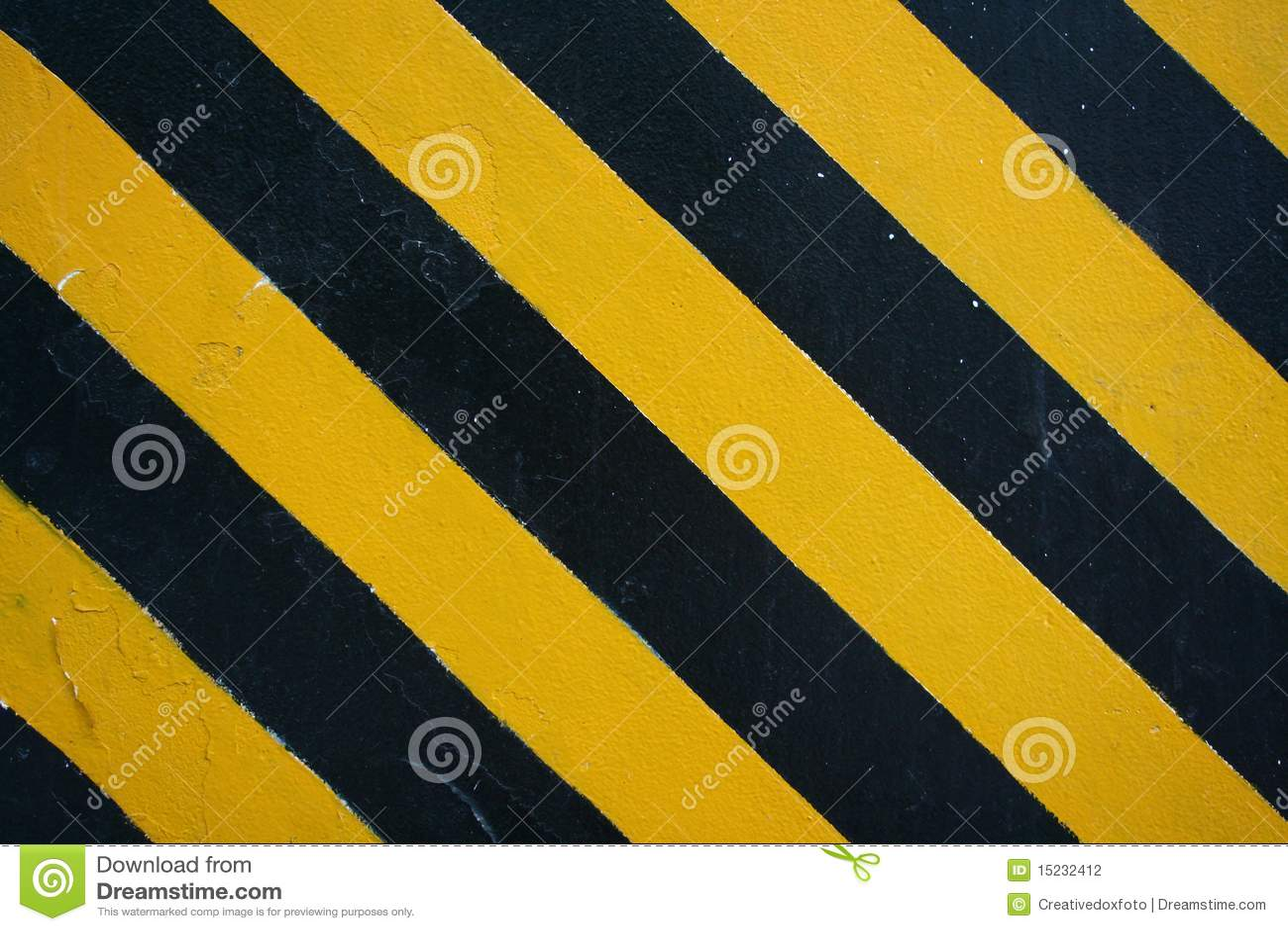 de zwarte gele strepen het gevaar stock illustratie