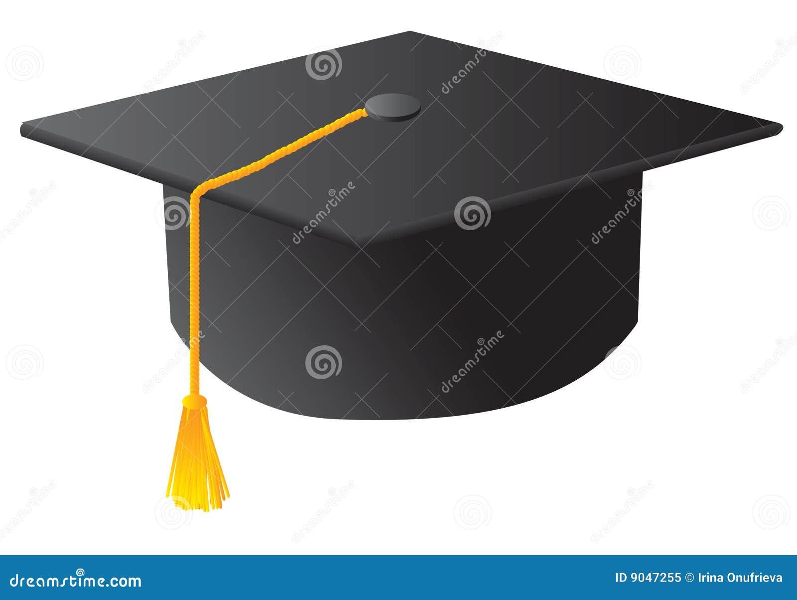 De zwarte hoed van de studentengraduatie royalty vrije stock foto afbeelding 9047255 - Geloofsbrieven ontwerp ...