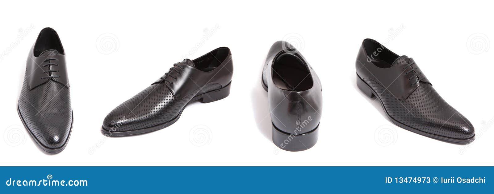 De zwarte schoen van leermensen