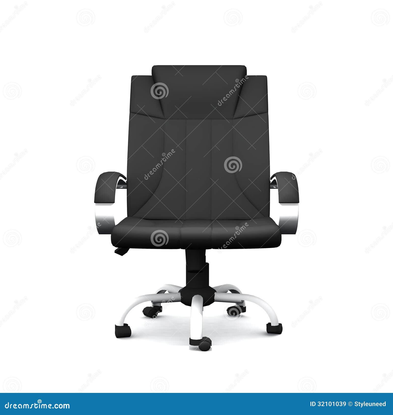 De zwarte stoel van het leerbureau stock illustratie afbeelding 32101039 - Zetel leer metaal ...