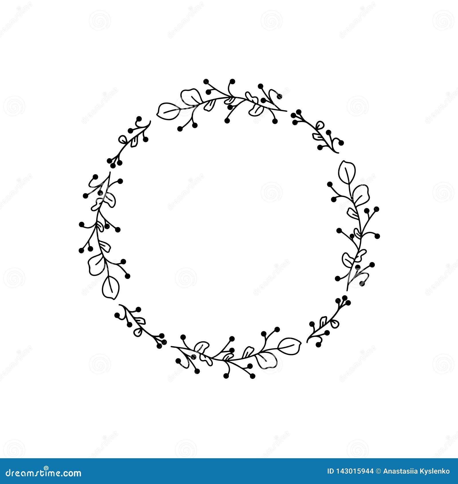 De zwarte vector van Huwelijksbloemen De bloemenkaart van de kaderuitnodiging Het element van het bloemdecor Moderne stijl Vector