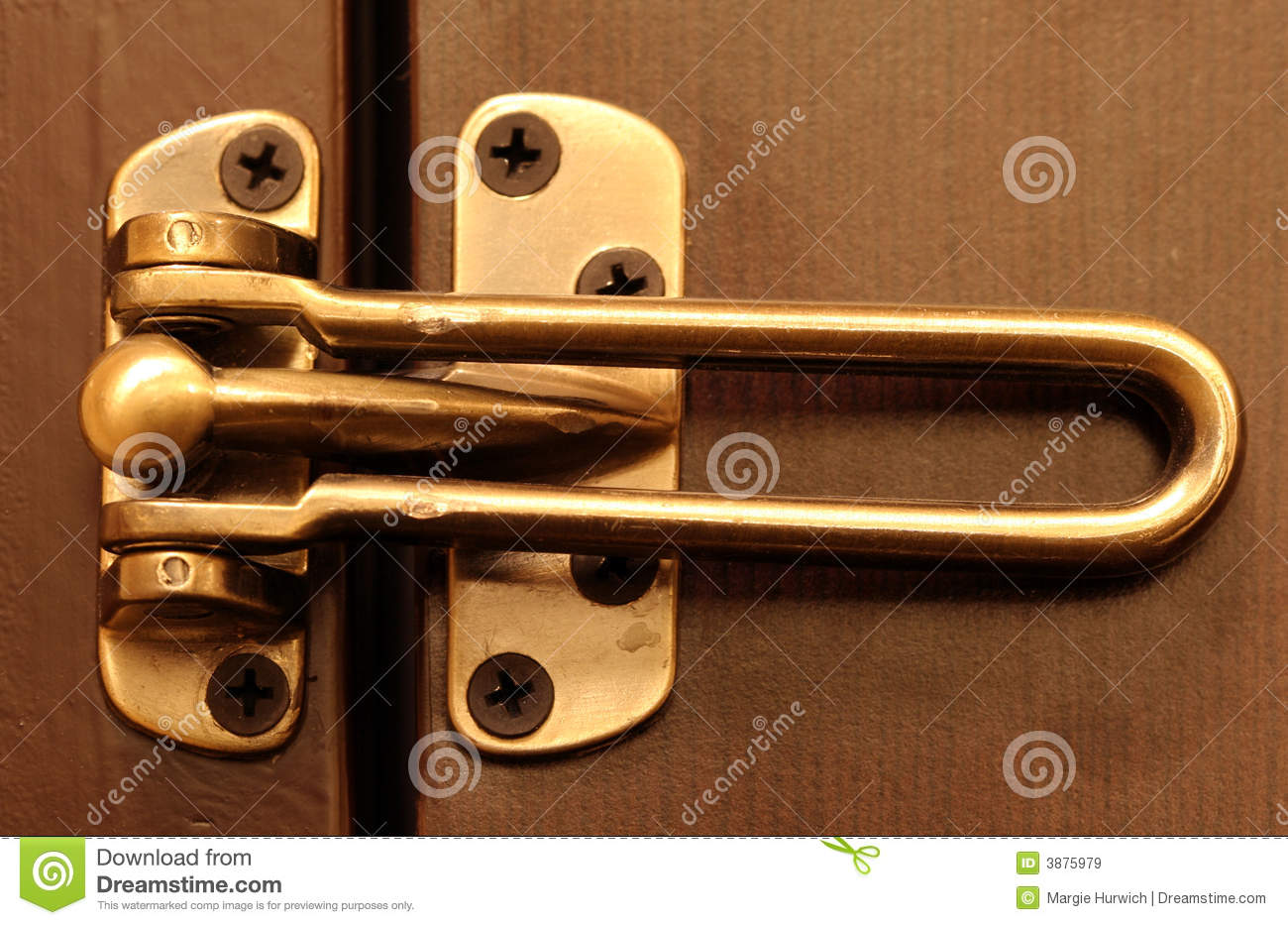 dead bolt lock stock image image of privacy secure deadbolt 3875979