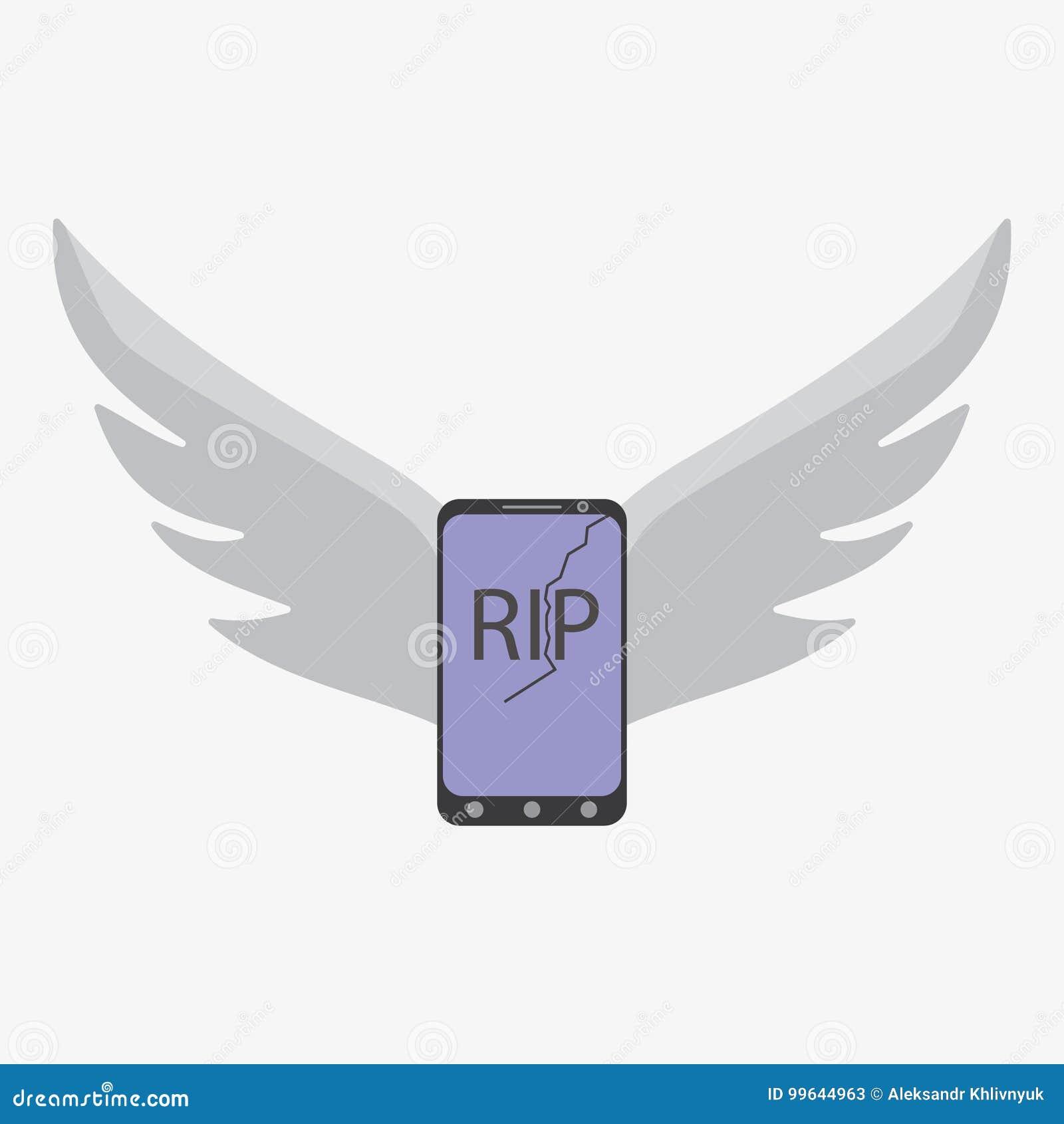 Dead Broken Smart Phone Stock Illustration Illustration Of