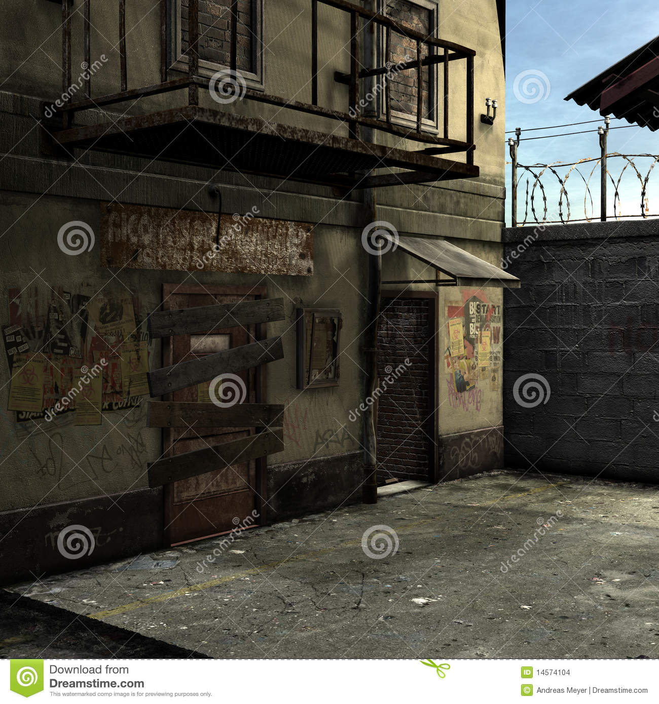 Dead End Alley Scene Stock Images Image 14574104