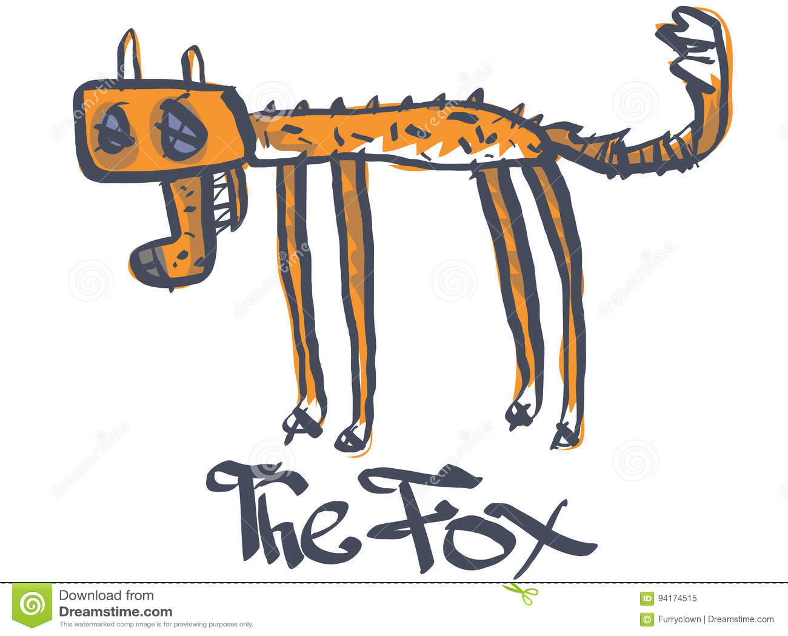 A dead fox stock vector  Illustration of tail, humor - 94174515
