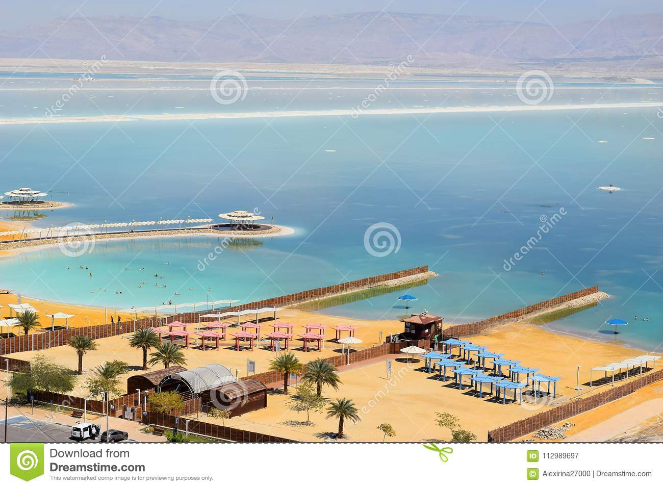 Landscape at the Dead Sea, Israel shore