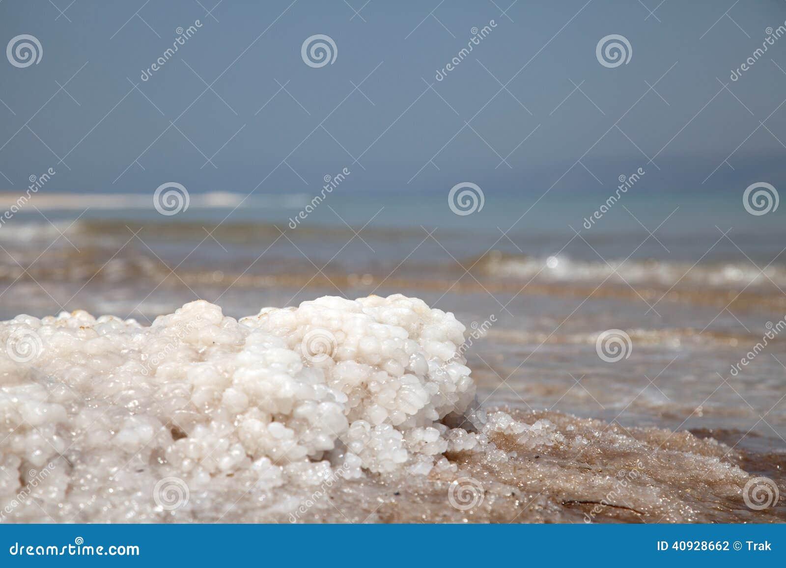 Dead Sea salt closeup