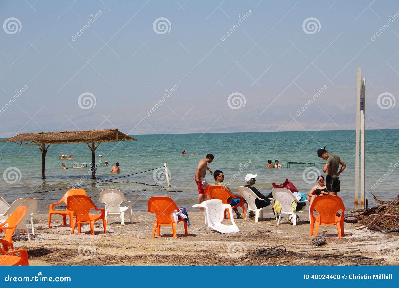 Dead Sea Swimming in Israel